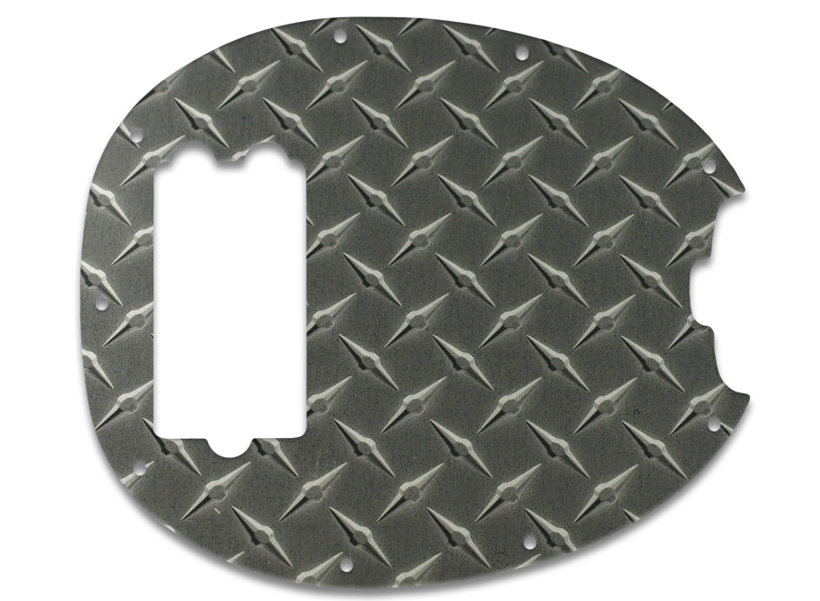 wd music products musicman stingray bass faux black diamond plate. Black Bedroom Furniture Sets. Home Design Ideas