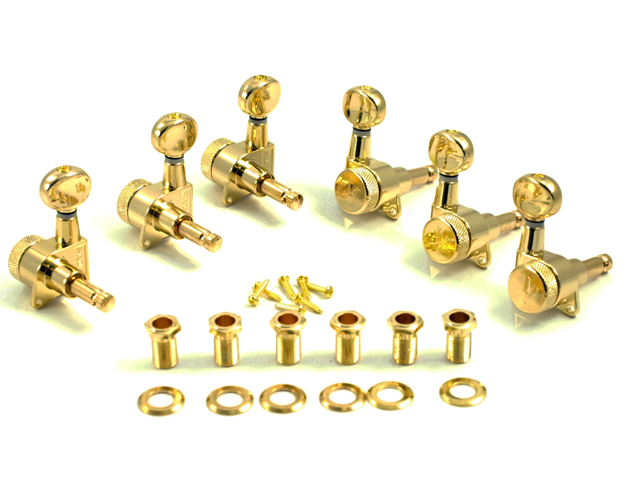 wd music products kluson locking tuners 6 in line oval metal btn gold. Black Bedroom Furniture Sets. Home Design Ideas