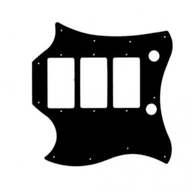 "WD Custom Pickguard For Left Hand Gibson ""Captain"" Kirk Douglas Signature Roots SG"