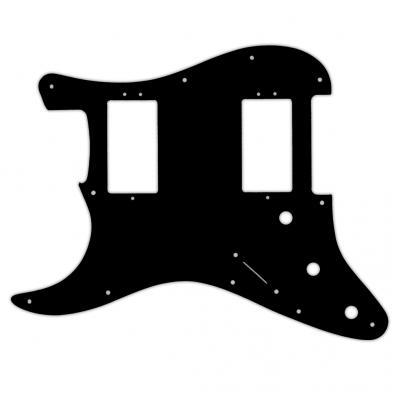 WD Custom Pickguard For Left Hand Fender 2016 American Professional Stratocaster HH With Covered Shawbuckers