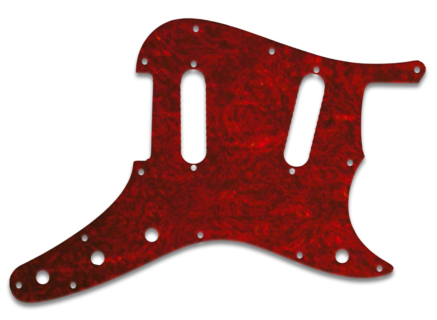Wd Music Products Fender Duosonic Tortoise Shell Style Red Pvc