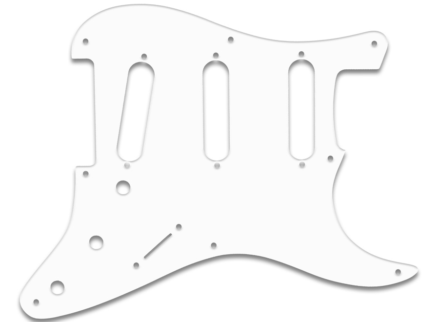 wd music products - stratocaster u00ae pre cbs 8 hole  b  w