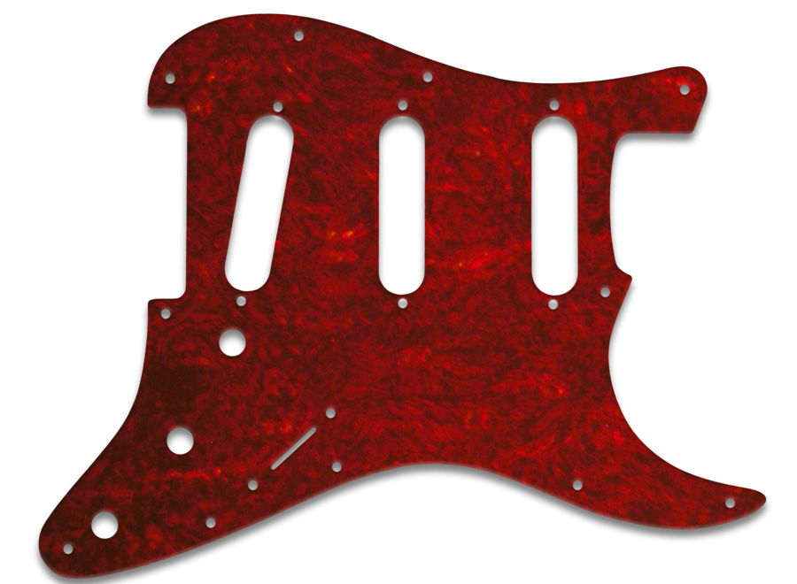 Wd Music Products Fender Stratocaster Tortoise Shell Style Red