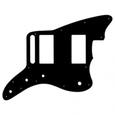 WD® Custom Pickguard For Fender® Special Edition Blacktop Jazzmaster HH®