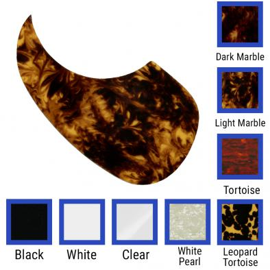 WD Custom Pickguard For Left Hand Acoustic Guitars With Martin Style Tear-Drop Pickguard