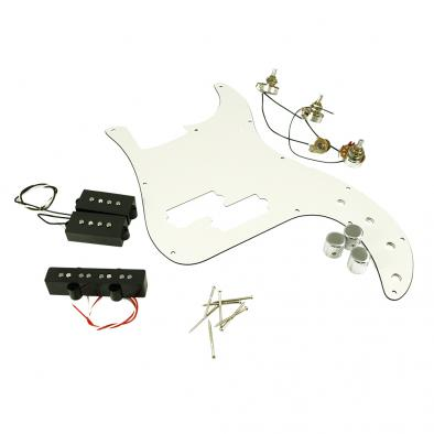 WD Custom Pickguard Prewired With Kent Armstrong Hot Twins & Full Fusion Pickups For Fender PJ Bass