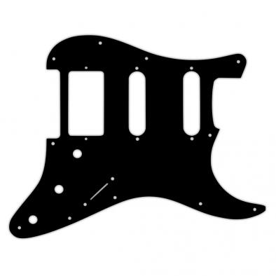 WD® Custom Pickguard For Single Humbucker, Dual Single Coil Fender® Stratocaster®