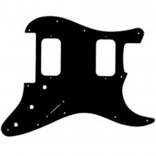 WD Custom Pickguard For Fender 2012-Present Made In Mexico Blacktop Stratocaster HH Floyd Rose