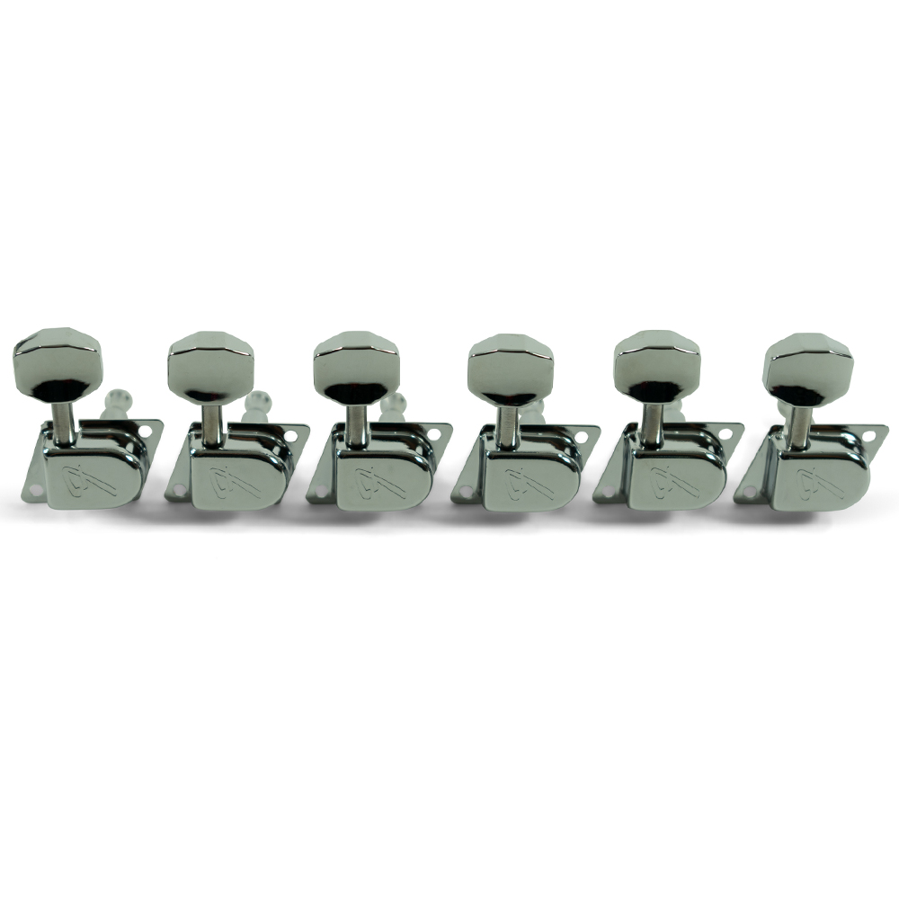 """Fender 6 In Line 1970's """"F"""" Series Chrome Tuning Machines"""