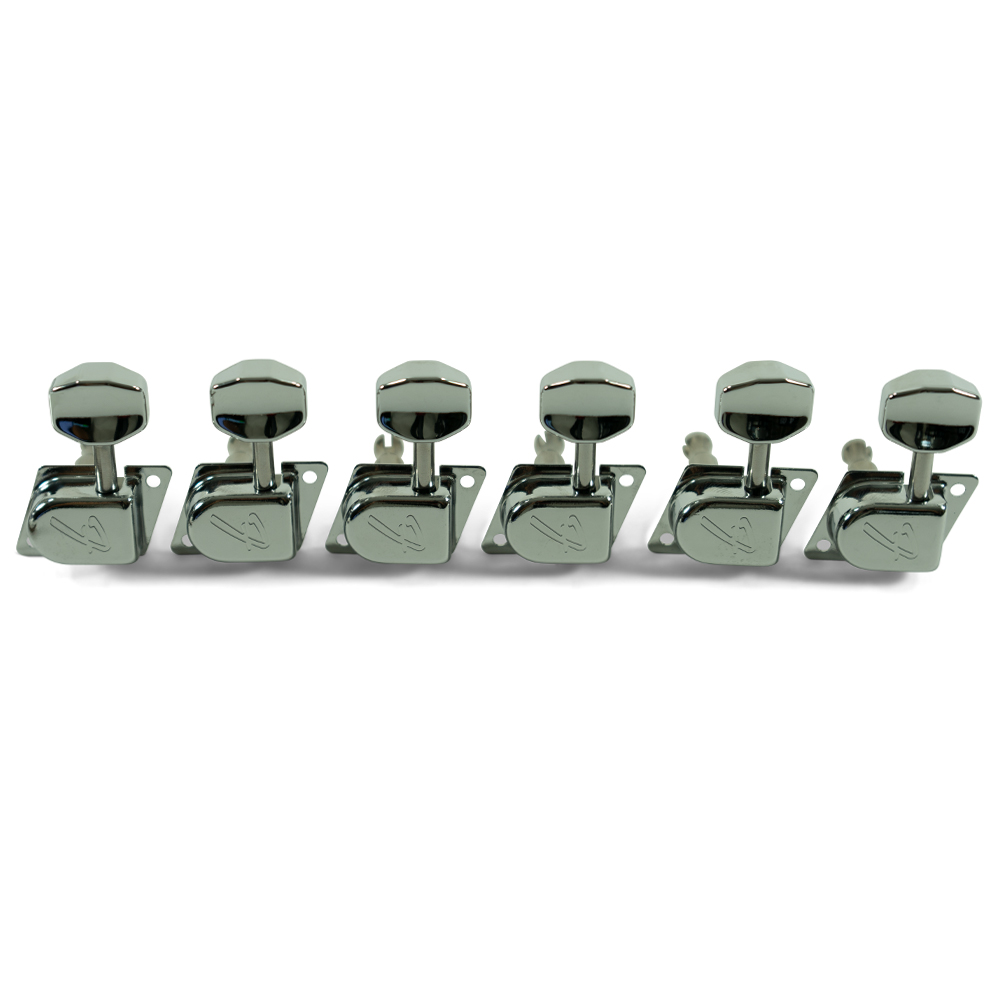"""Fender 6 In Line Left Hand 1970's """"F"""" Series Chrome Tuning Machines"""