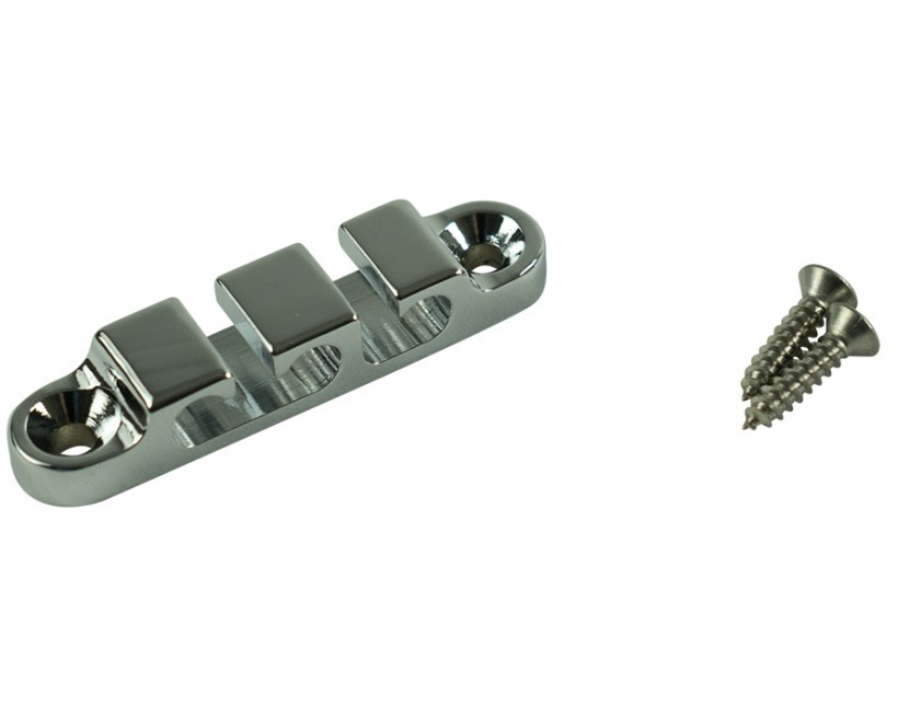 Hipshot 405200C 3-String Retainer//String Guide for Bass CHROME with Screws