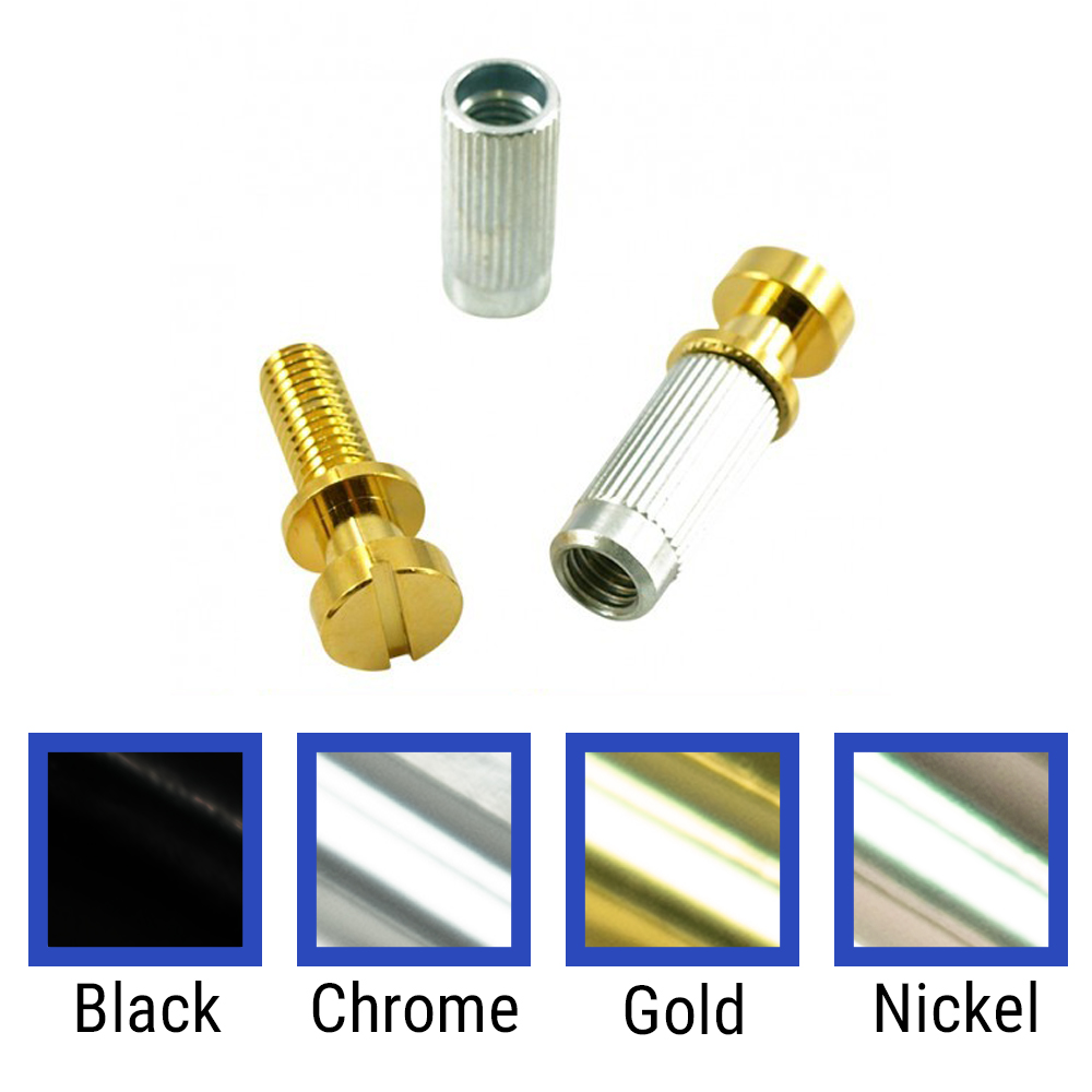 WD 4 Piece Stop Tailpiece Stud & Insert Set With Metric Threads