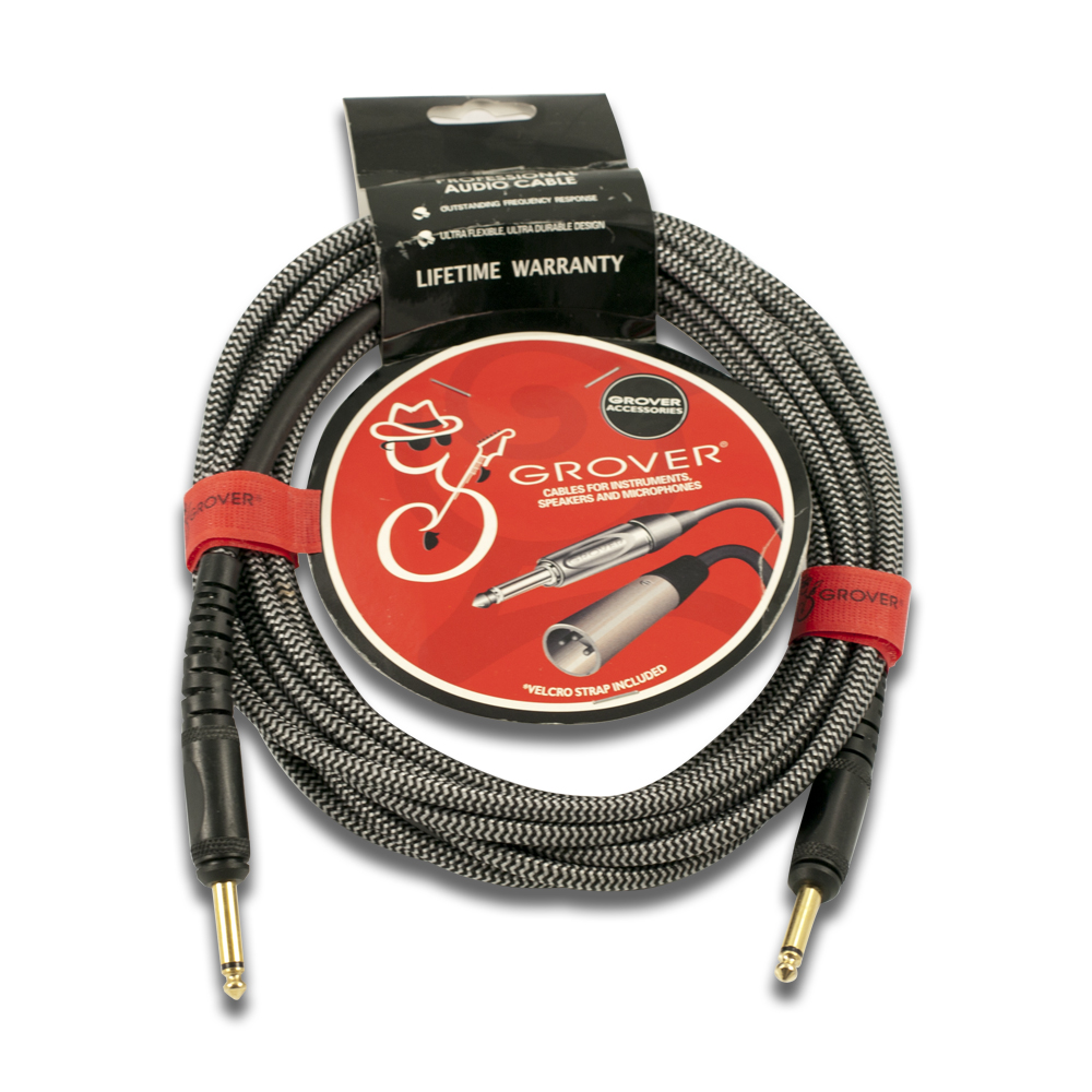 Grover Braided Fabric Noiseless Instrument Cable