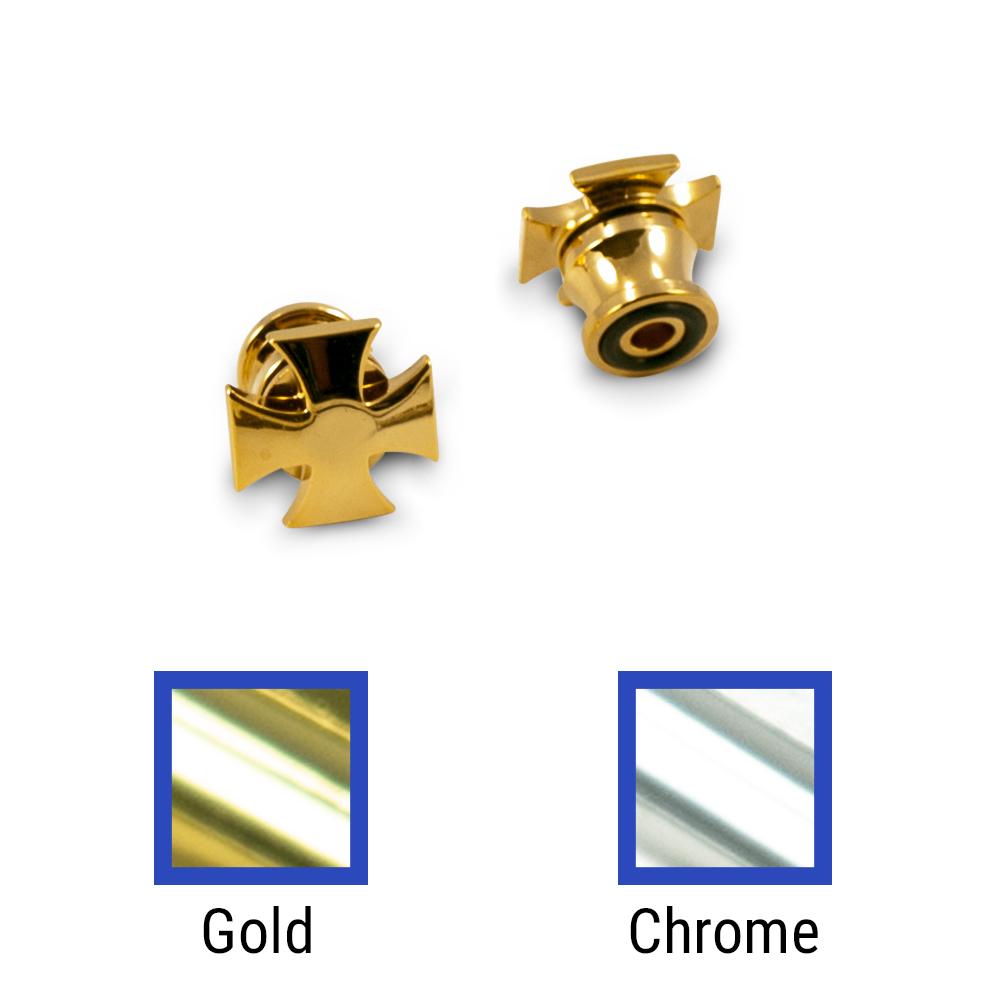 Grover Iron Cross Strap Button Set Of 2