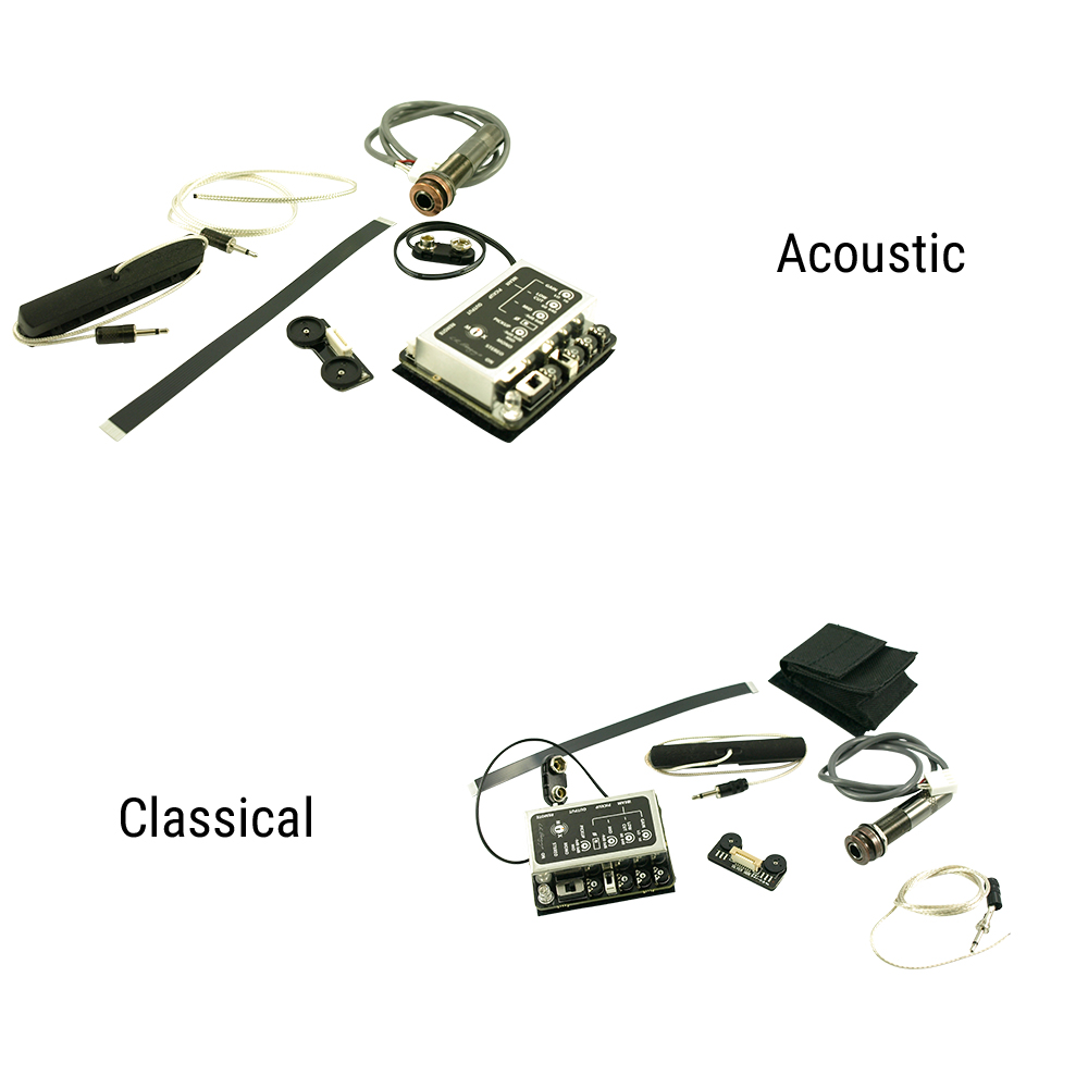 L.R. Baggs iMix Element And iBeam Combination For Acoustic Or Classical Guitar