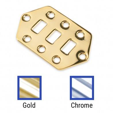 WD Music Jaguar Lower Switchplate Chrome