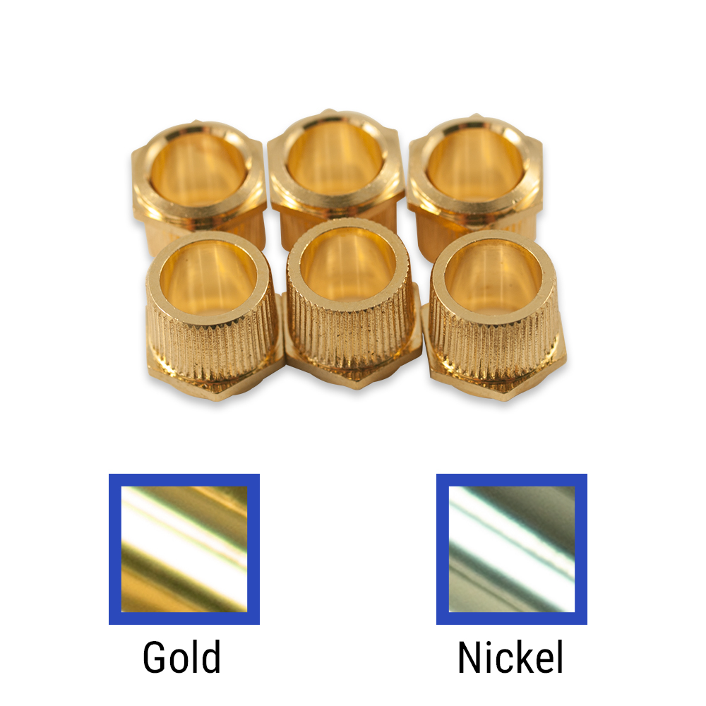 Kluson Replacement Hex Head Bushing Set For Deluxe Or Supreme Series Tuning Machines & Vintage Gibson Or Martin Guitars