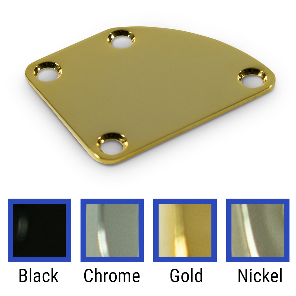 WD Music Products® 4 Hole Neck Plate With Rounded Corner