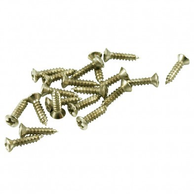 "12 Stainless Steel Oval Head 1//2/"" #4 Fender-Sized Pickguard Guitar Part Screws"
