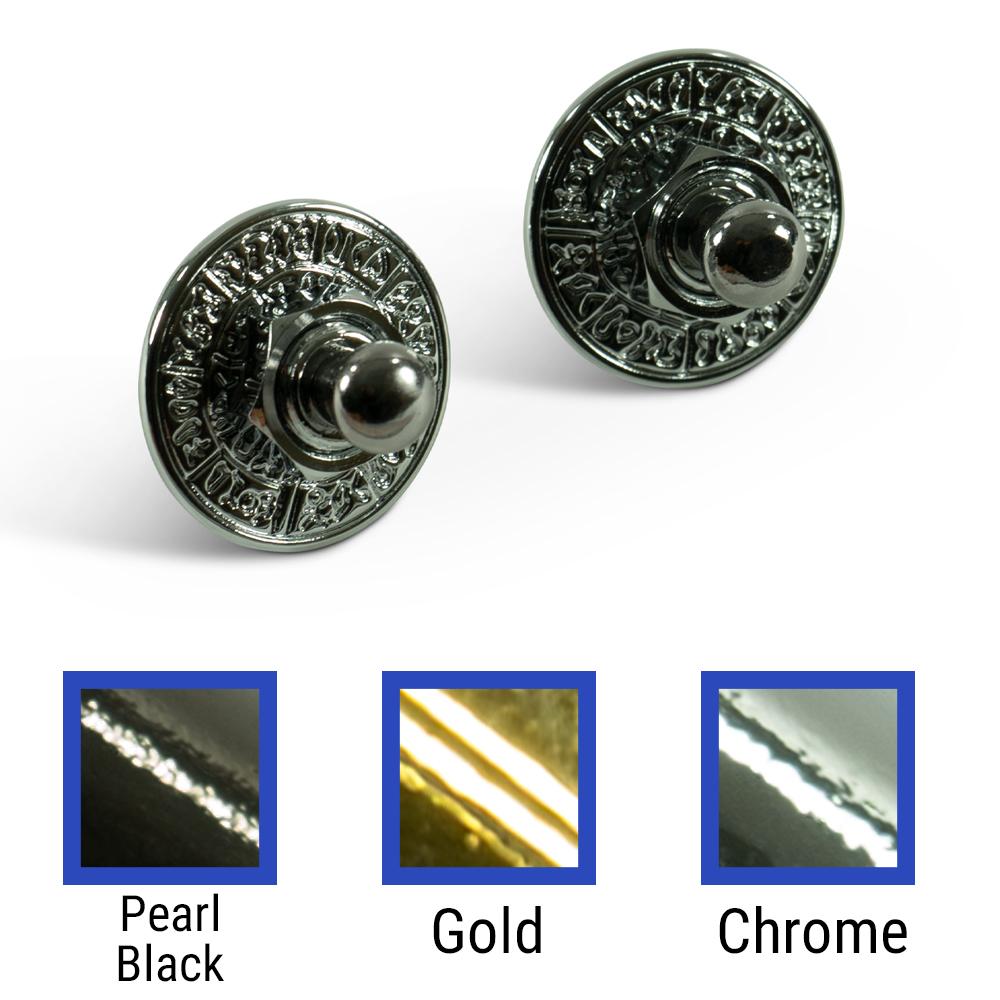 Q-Parts Straplock Sets Or Rings With Aztec Design