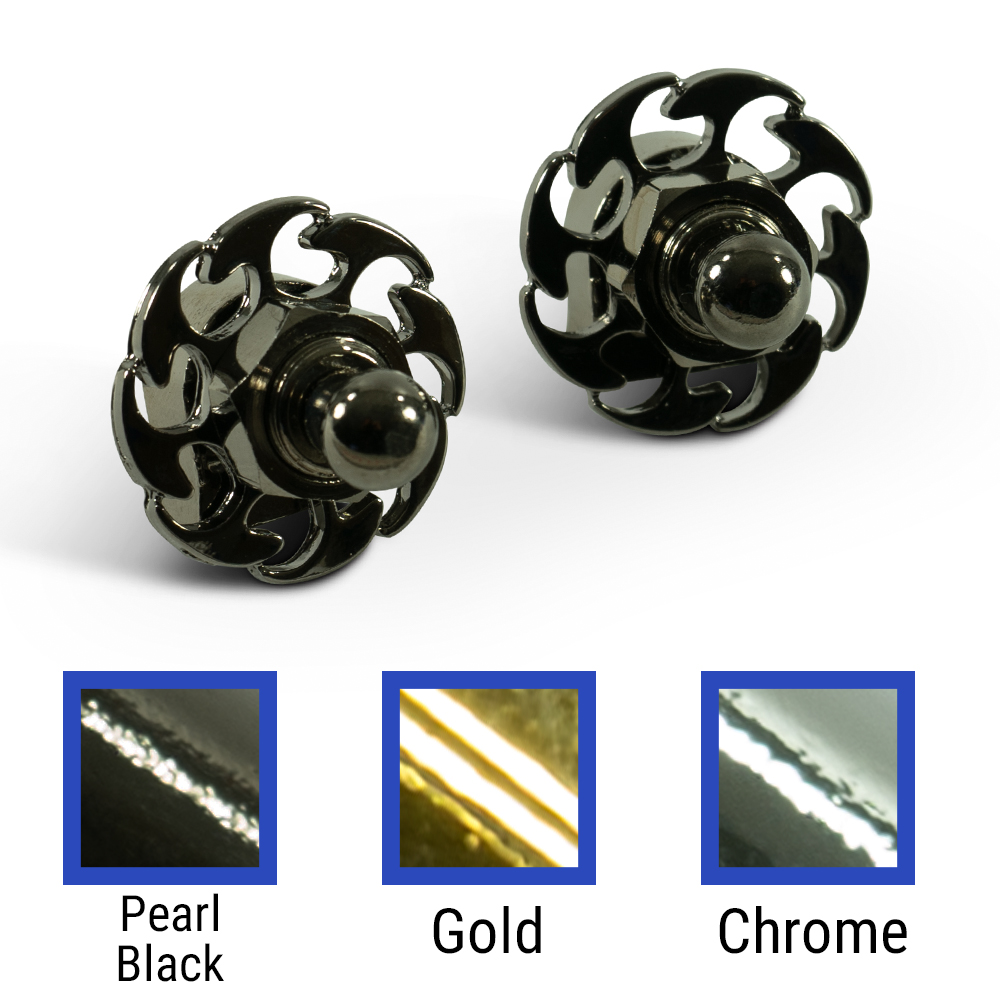 Q-Parts Straplock Sets Or Rings With Fire Wheel Design