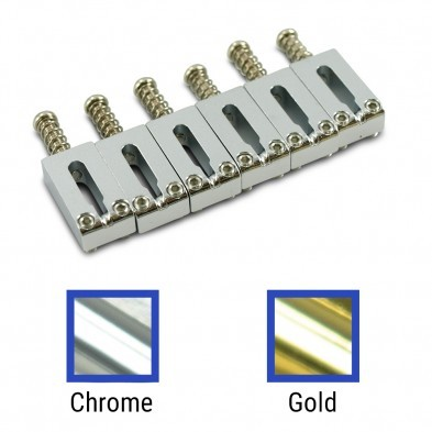 Gotoh® Replacement Solid Steel Tremolo Saddle Set