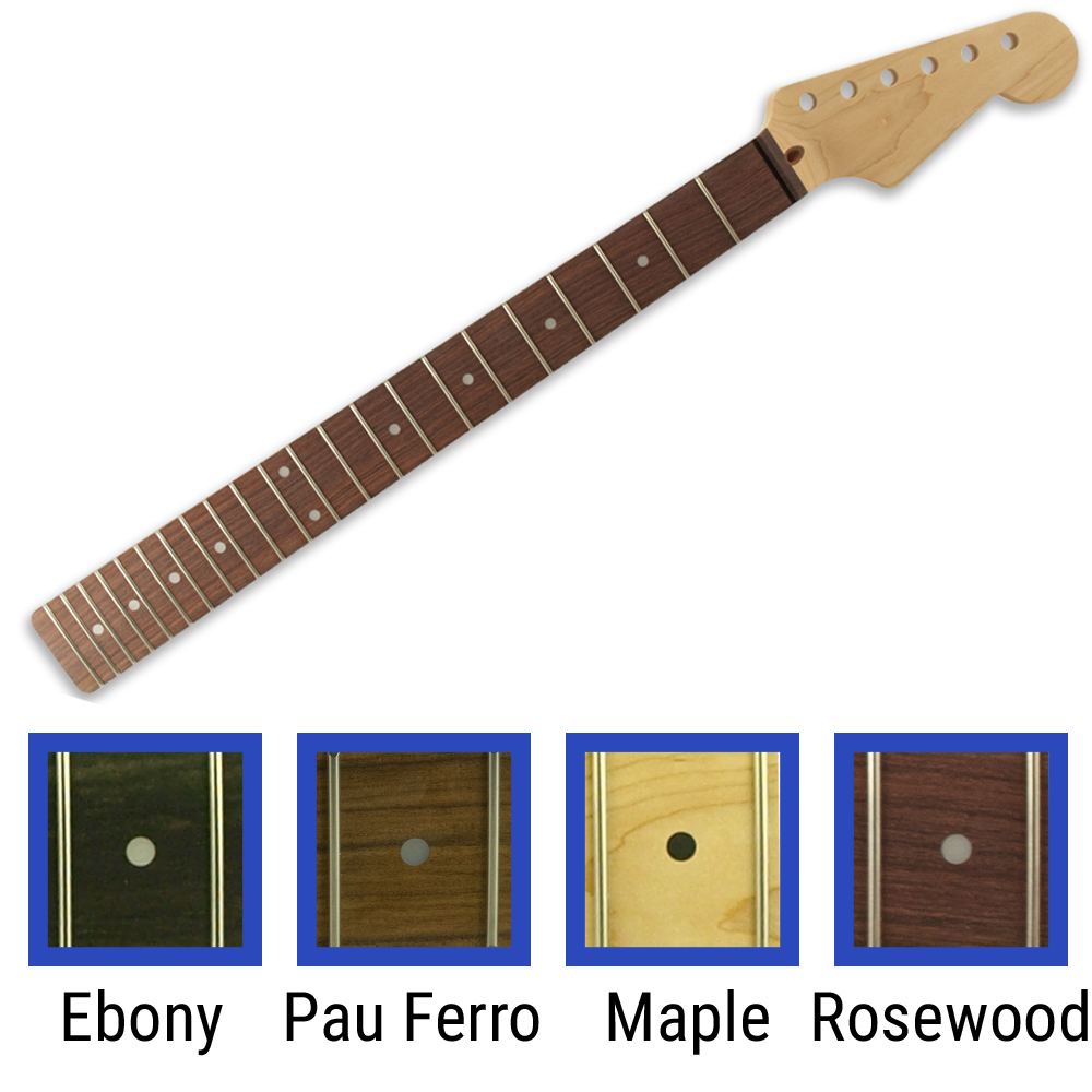 WD® Licensed By Fender® Replacement 22 Fret Neck For