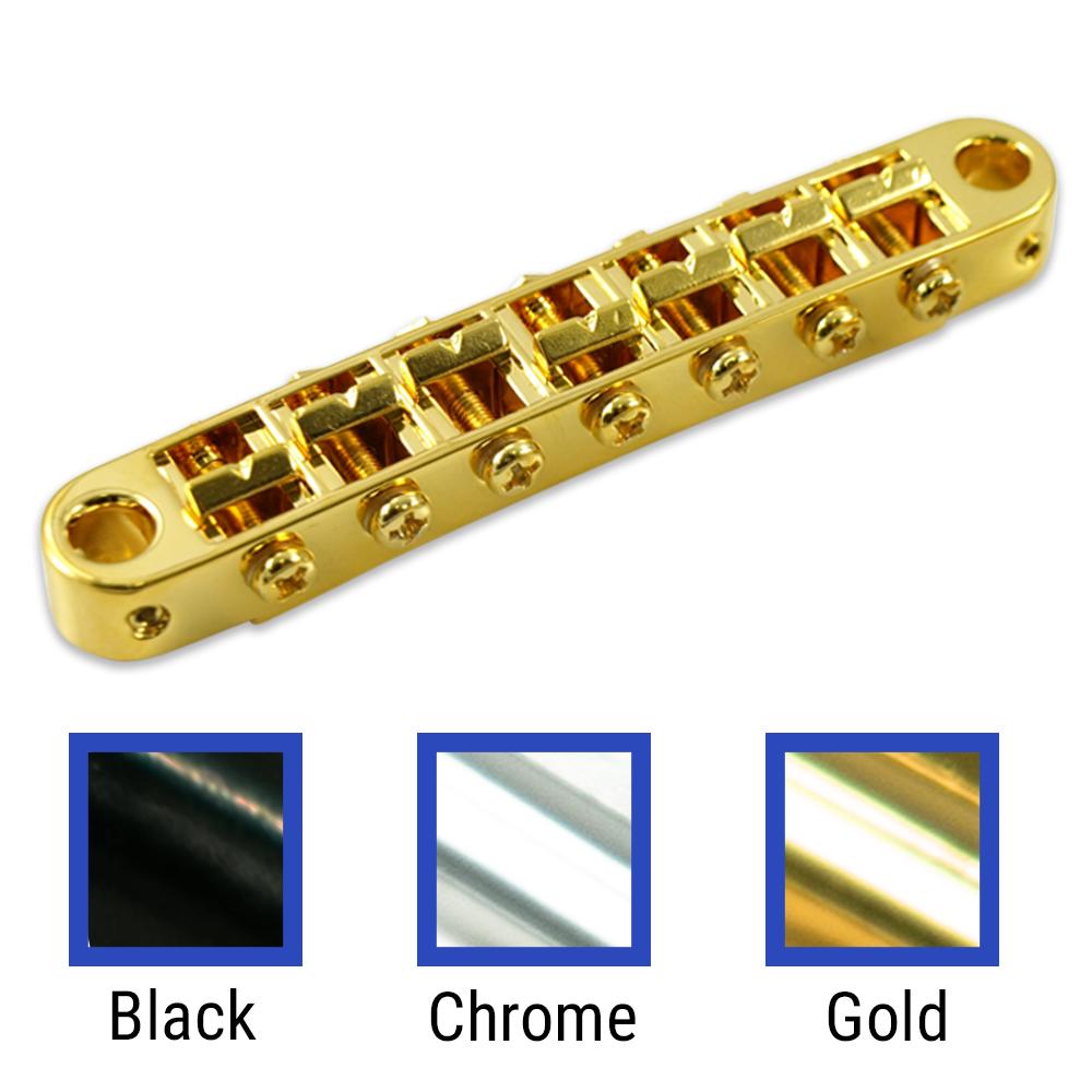 BLACK Tone Pros TP7-B 7-String Tunematic Metric Bridge NEW