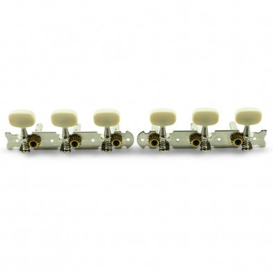 NICKEL Butterfly White Plastic Buttons NEW Tuning Keys For Classical Guitar