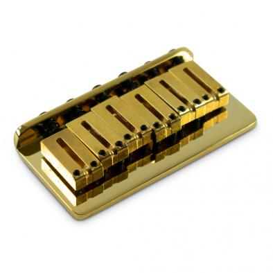Fender® American Standard Stratocaster® Gold Hardtail Bridge Assembly