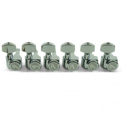 "Fender 6 In Line ""F"" Series Chrome Locking Tuning Machines"