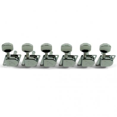 "Fender® 6 In Line 1970's ""F"" Series Chrome Tuning Machines"