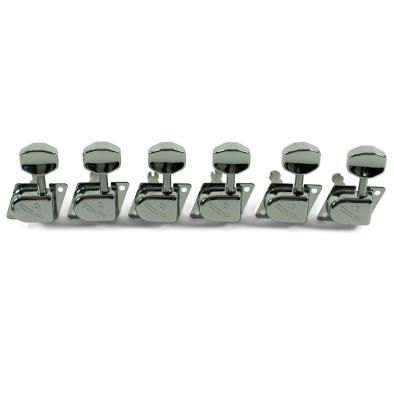 "Fender® 6 In Line Left Hand 1970's ""F"" Series Chrome Tuning Machines"