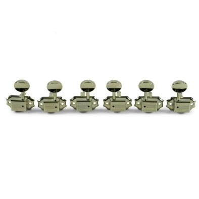 Grover® Deluxe Series 3 Per Side Nickel Tuning Machines With Butterbean Button