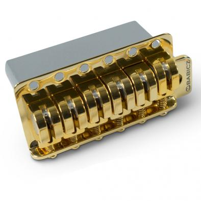 Babicz® Full Contact Hardware 6 Point Tremolo, Wide, Z Series Gold