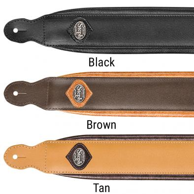 Steph® Padded Split Leather Handmade Strap