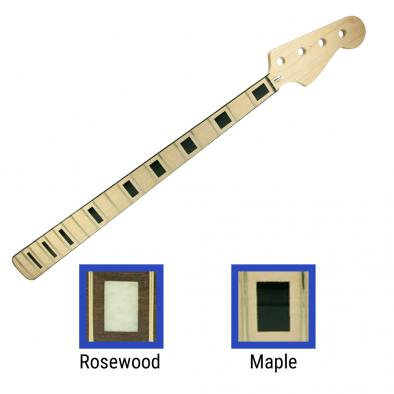 WD Licensed By Fender Replacement 20 Fret Neck For Geddy Lee Signature Or 70's Jazz Bass