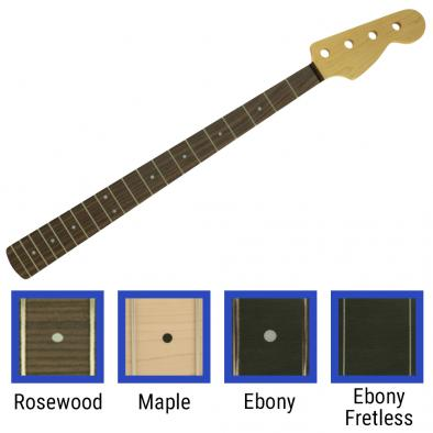 WD Licensed By Fender Replacement 20 Fret Neck For Jazz Bass