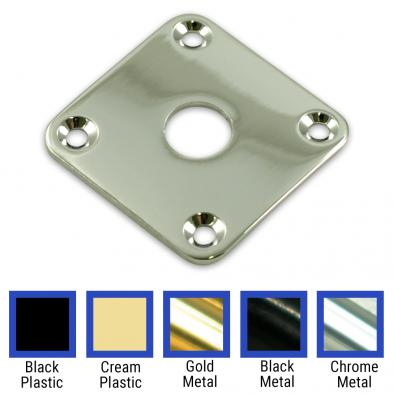 WD Square Jack Plate for Gibson Les Paul