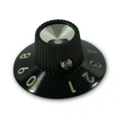 Kluson® Black Skirted Amplifier Knob Set