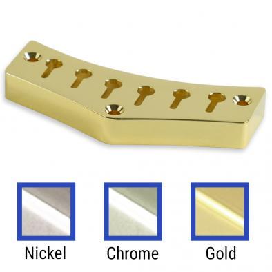 Kluson® JG Custom Top Mount Tailpiece Brass