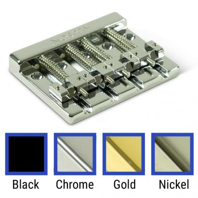 Kluson High Mass 4 String Bass Bridge Zinc With Brass Saddles
