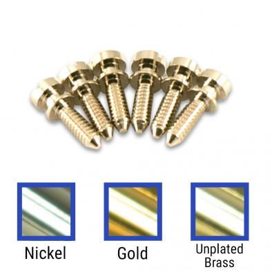 Kluson USA® Brass Intonation Screw Set Of 6 For Nonwired ABR-1 Tune-O-Matic Bridges