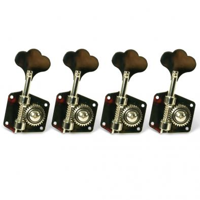 Gotoh 4 In Line Pre CBS Vintage Bass Tuning Machines With Flat Baseplate Nickel
