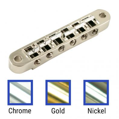 Kluson USA Replacement Aluminum, Brass, Steel, Or Zinc Nashville Tune-O-Matic Bridge With Brass Saddles