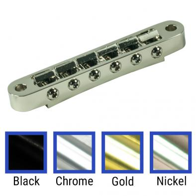 Kluson USA Replacement Aluminum Nashville Tune-O-Matic Bridge With Brass or Zinc Saddles