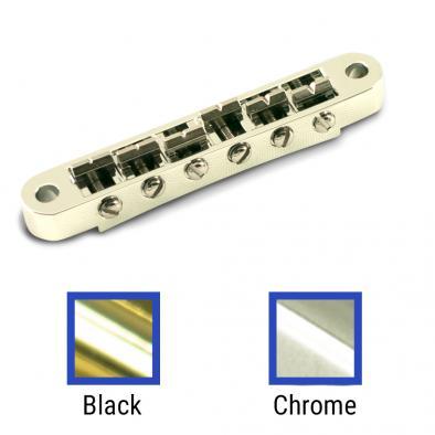 Kluson USA® Replacement Left Hand Zinc Nashville Tune-O-Matic Bridge With Brass Saddles
