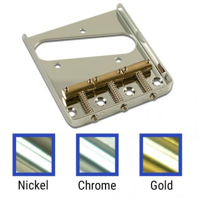 Kluson USA® Replacement Bridge For Fender Telecaster® Steel With Brass Saddles