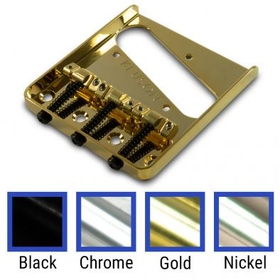 Kluson Vintage Replacement Bridge For Fender Telecaster Steel With Brass Intonated Saddles