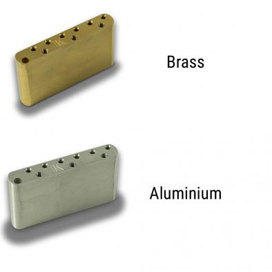 Kluson® Milled Aluminum Or Brass Left Hand Sustain Block For Vintage Tremolos